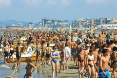 Rimini. Tourism. Beach. Holiday season. Summer.